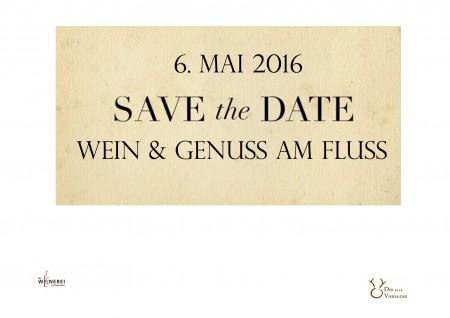 Save the Date – Wein & Genuss am Fluss Mai 2017