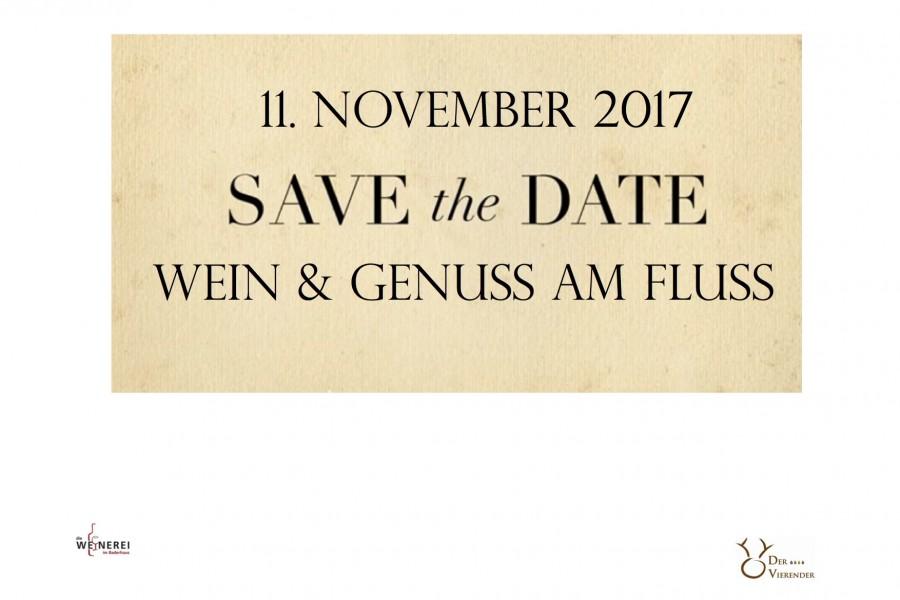 Save the Date – Wein & Genuss am Fluss November 2017