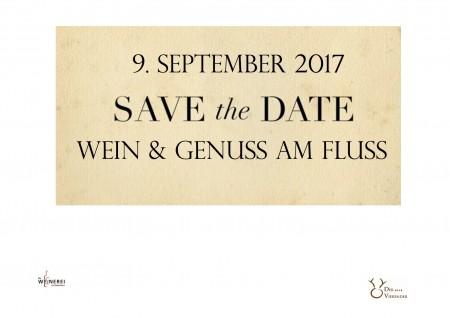 Save the Date – Wein & Genuss am Fluss September 2017