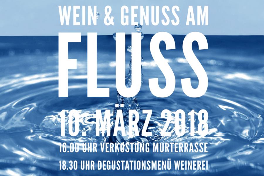 Wein & Genuss am Fluss . Weinerei im Baderhaus am 10.3.2018