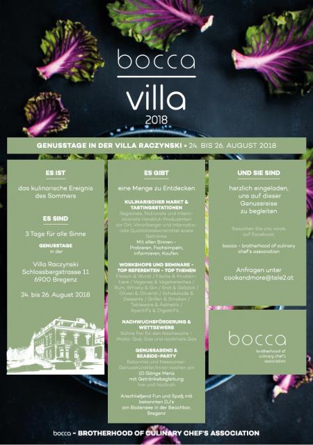 bocca villa 2018 . Bregenz . 24.-26.8.2018