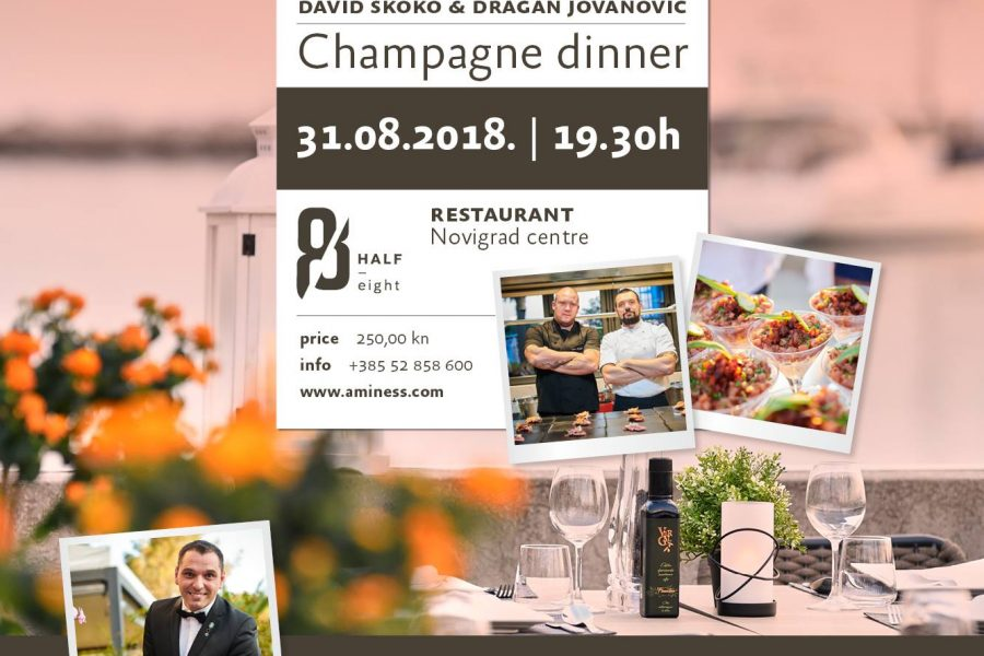 Aminess Wine & Gourmet Nights . Champagne Dinner . 31.8.2018