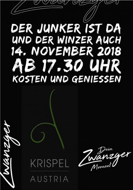 Der Junker ist da . der Winzer auch 14. November 2018 im Zwanzger
