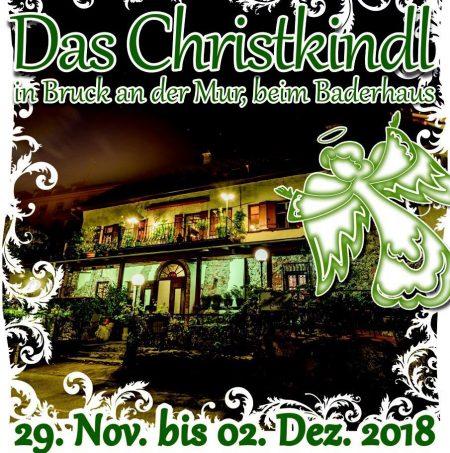 Das Christkind in Bruck an der Mur beim Baderhaus 29.11. bis 2.12.2018