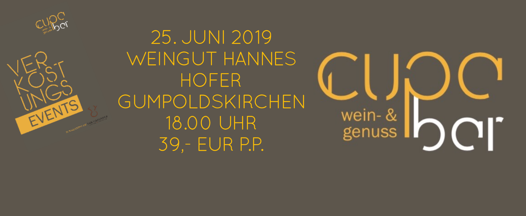 Verkostungs Events . Cupa Bar . Weingut Hannes Hofer . Gumpoldskirchen 25. Juni 2019