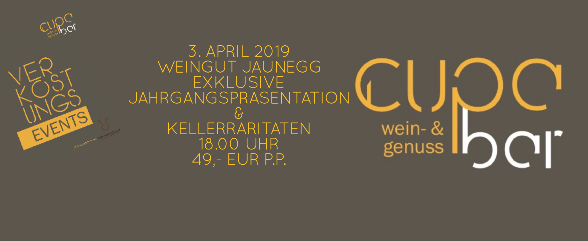 Verkostungs Events . Cupa Bar . Weingut Jaunegg . 3. April 2019