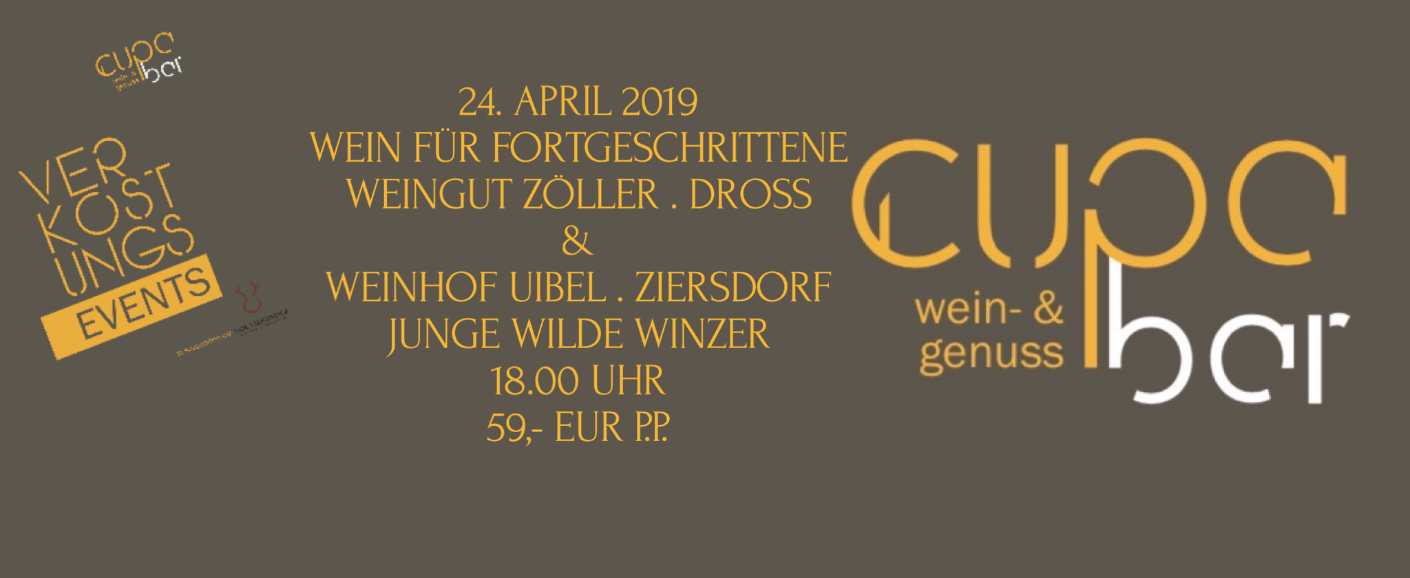 Verkostungs Events . Cupa Bar . Weingut Zöller & Weinhof Uibel
