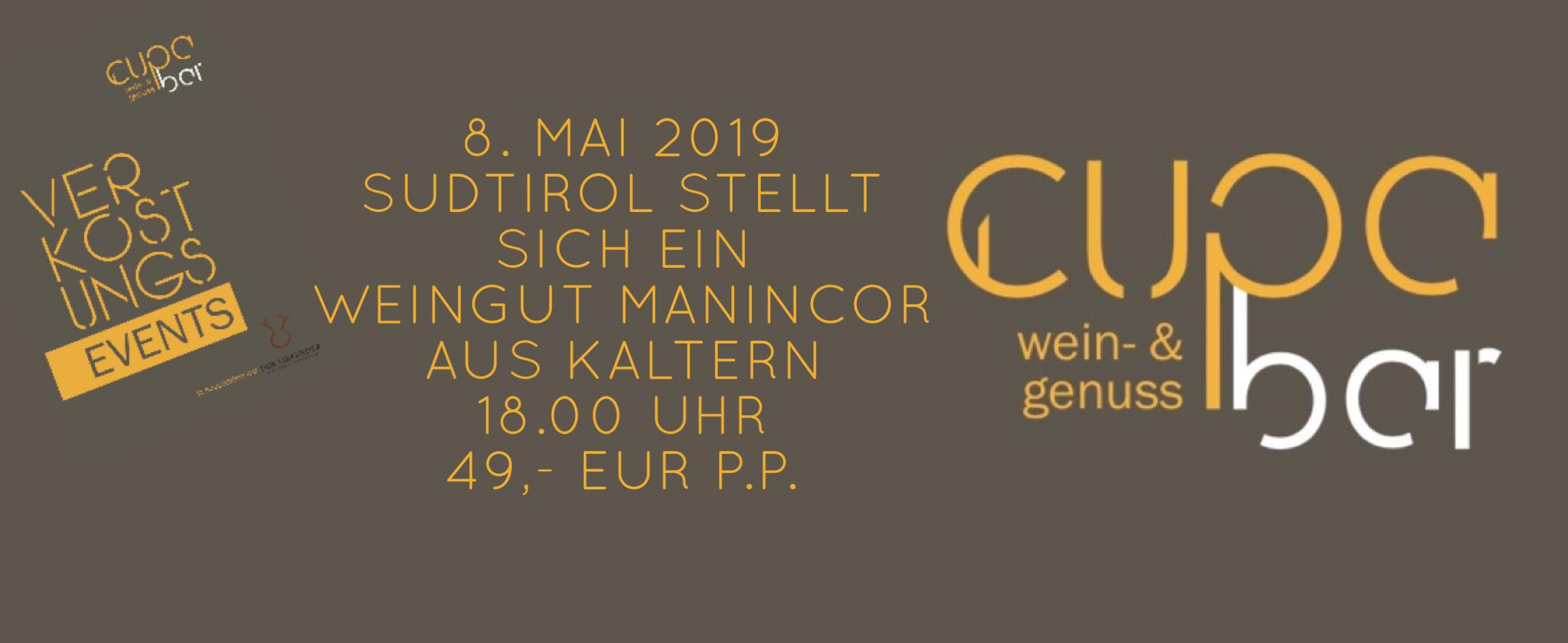 Verkostungs Events . Cupa Bar. Weingut Manincor Südtirol . 8. Mai 2019