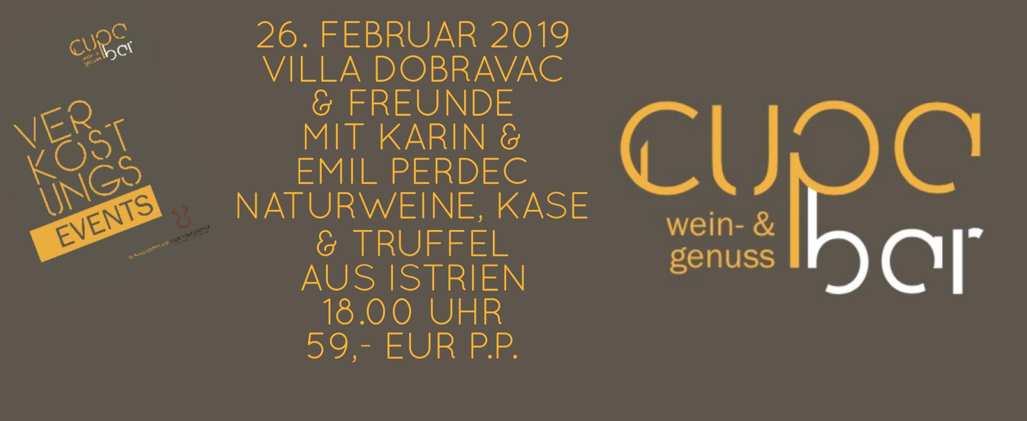 Verkostungs Events . Cupa Bar . Weine Villa Dobravac & Friends 16. Februar 2019