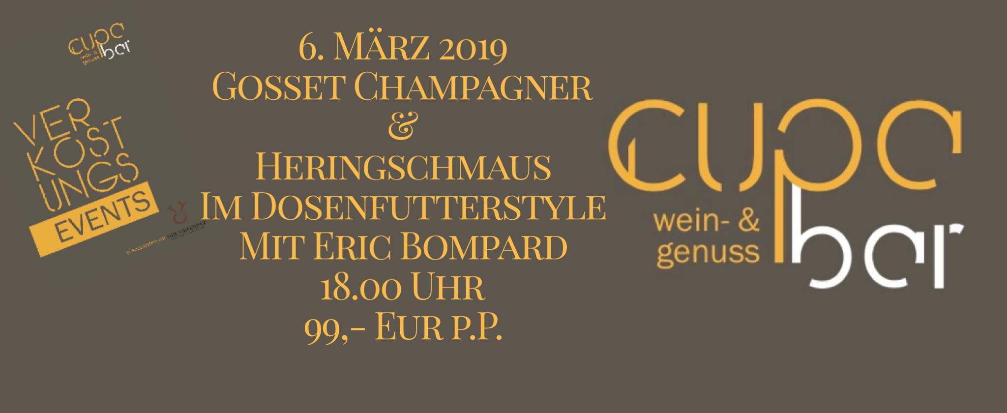 Verkostungs Events . Cupa Bar . Gosset zum Heringschmaus . 6. März 2019