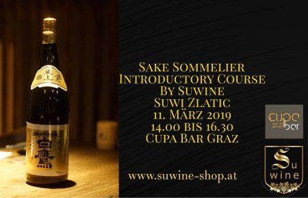 Sake Sommelier Introductory Course . Suwine . Cupa Bar Graz