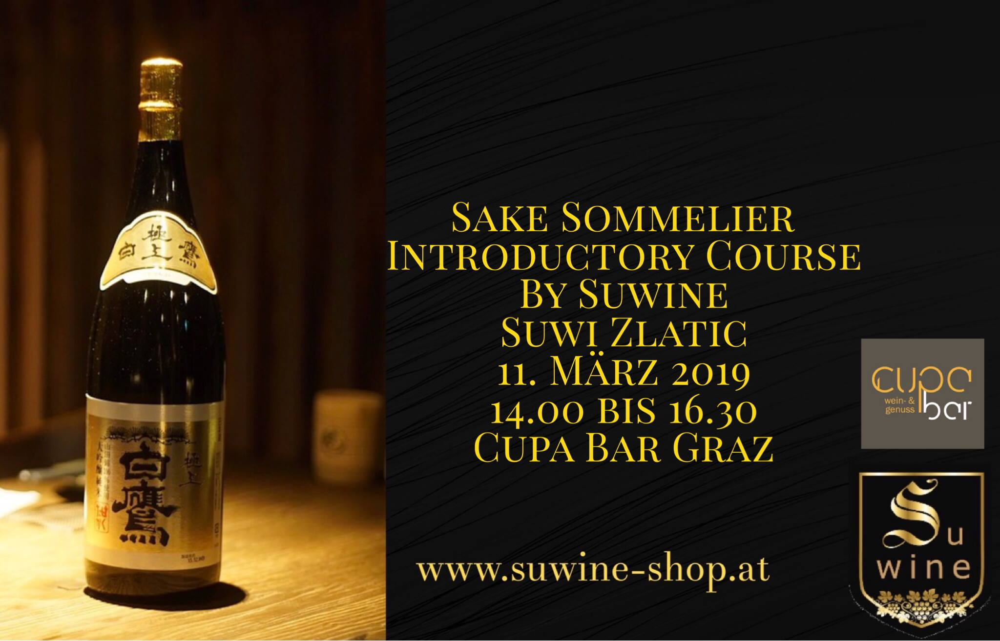 Sake Sommelier Introductory Course . Suwine . Cupa Bar Graz