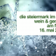 Die Steiermark im Glas . 16. Mai 2020 . Wein & Genuss am Fluss
