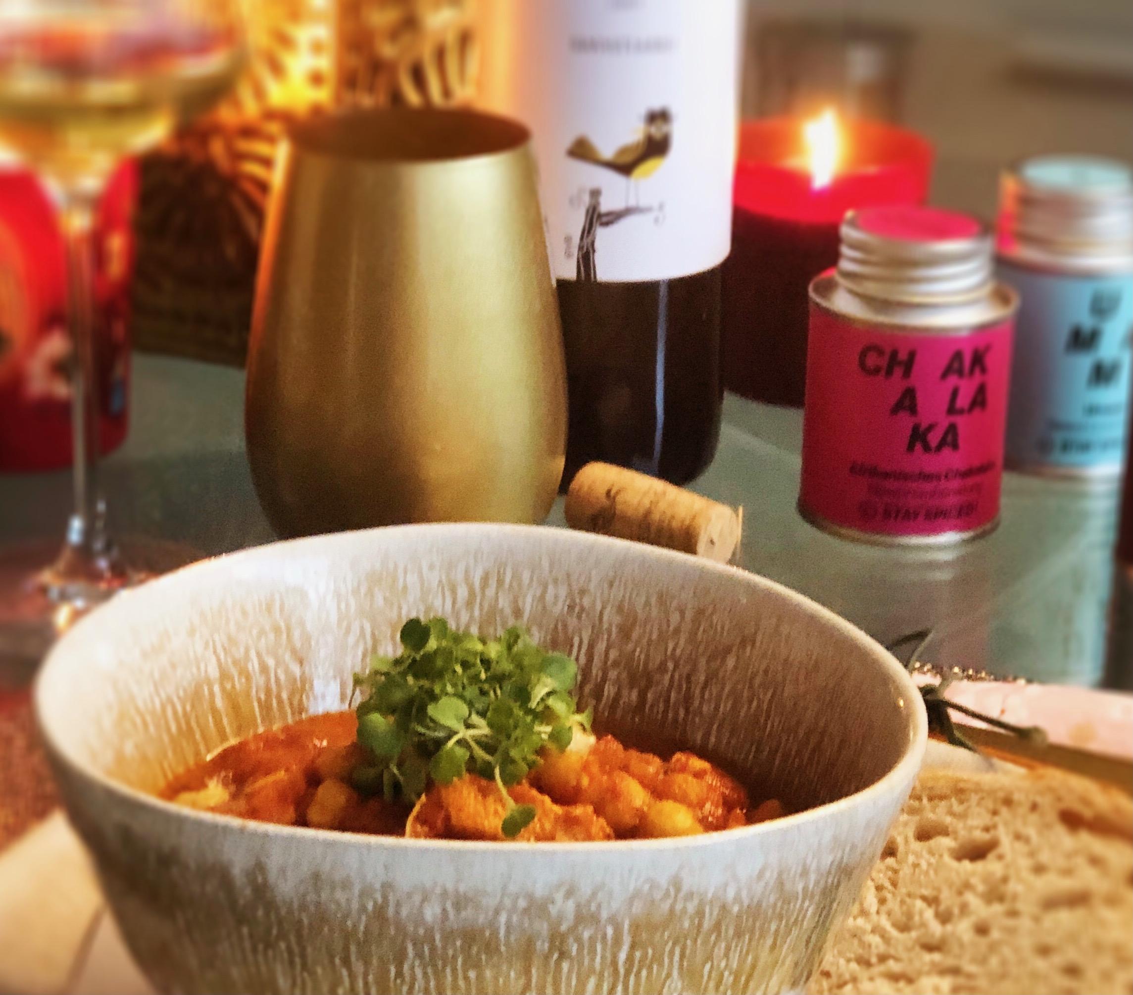 Andrea kocht und trinkt . Marokkanischer Kichererbseneintopf